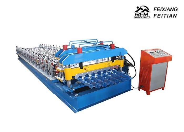 Step Tile Roll Forming Machine , Color Steel Glazed Tile Making Machine