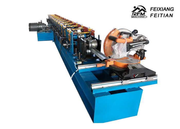 Automatic Steel Rolling Shutter Slats Roll Forming Machine With 0.3 - 0.8mm Thickness