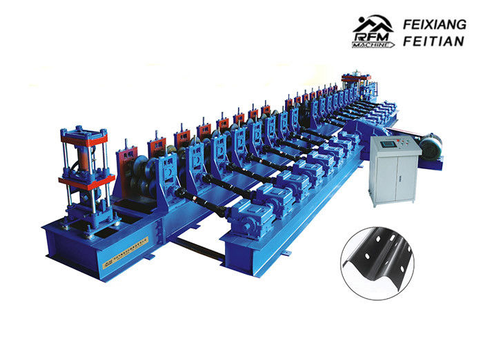 Automatic Guard Rail Roll Forming Machine , Highway Guardrail Making Machine