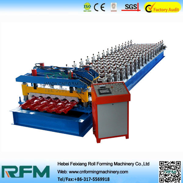 Galvanized Roofing Panel Roll Forming Machine Heavy Duty 7200*1350*1250mm Size